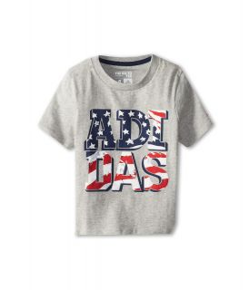 adidas Kids USA Tee Boys T Shirt (Gray)