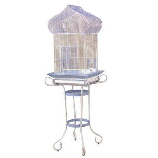 Prevue Pet Products Cockatiel Bird Cage with Stand Blue & White (Medium)
