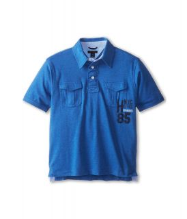Tommy Hilfiger Kids Aiden S/S Polo Boys Short Sleeve Pullover (Blue)