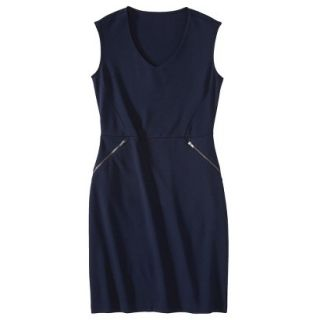 Mossimo Womens Ponte Sleeveless Dress w/ Zippered Pockets   Xavier Navy S