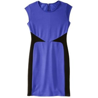 Mossimo Womens Colorblock Scuba Dress   Blue XL