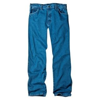 Dickies Mens Relaxed Fit Jean   Stone Washed Blue 31x32