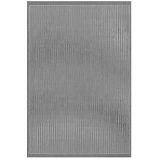 Recife Saddle Stitch Grey Rug (2 X 37)