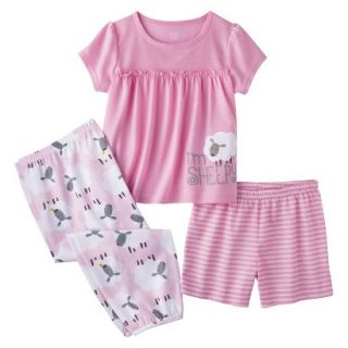 Just One You Made by Carters Infant Toddler Girls 3 Piece Sheep Pajama Set