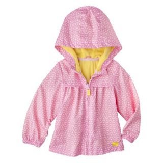 Just One You by Carters Infant Toddler Girls Flower Windbreaker Jacket   Pink