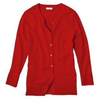 Merona Womens Ultimate 3/4 Sleeve Crew Neck Cardigan   Wowzer Red   XL