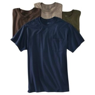 Fruit of the Loom Mens 4 pack Pocket Tee   Assorted Colors XL