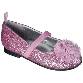 Toddler Girls Genuine Kids from OshKosh Glitter Ballet Flats   Pink 10