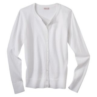 Merona Womens Ultimate Long Sleeve Crew Neck Cardigan   Fresh White   S