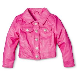 Dollhouse Infant Toddler Girls Faux Leather Jacket   Pink 18 M