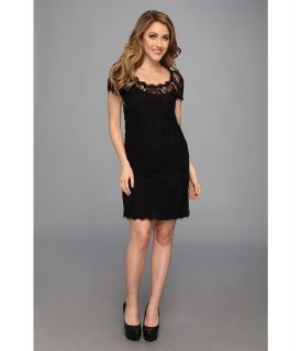 Nicole Miller Abby Placement Lace Dress Womens Dress (Black)