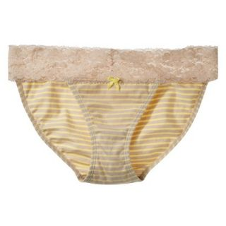 Xhilaration Juniors Wide Lace Cotton Bikini   Dandelion Yellow XL