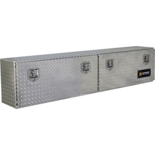 Locking Aluminum Top Mount Truck Box   72 Inch x 12