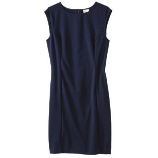 Merona Petites Sleeveless Ponte Sheath Dress   Navy Blue XSP