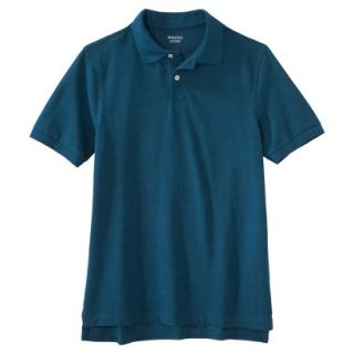 Mens Classic Fit Polo Shirt Atlantis blue turquoise M
