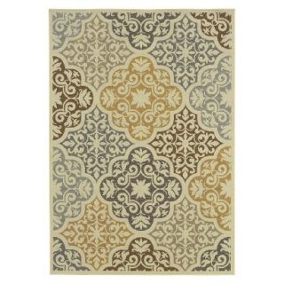 Kelsey Medallion Indoor/Outdoor Area Rug (53x76)