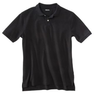Mens Classic Fit Polo Shirt Ebony Black M
