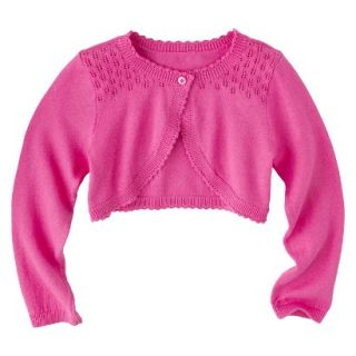 Infant Toddler Girls Long Sleeve Cardigan   Pink 12 M