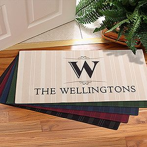 Large Personalized Family Monogram Doormats