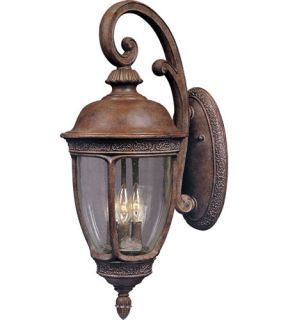 Knob Hill Dc 3 Light Outdoor Wall Lights in Sienna 3466CDSE