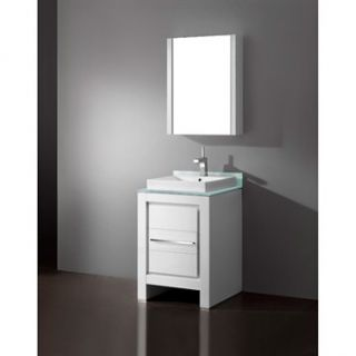 Madeli Vicenza 24 Bathroom Vanity   Glossy White