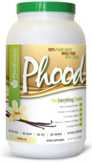 PlantFusion   Phood 100% Plant Based Whole Food Meal Shake Vanilla   1.98 lbs.
