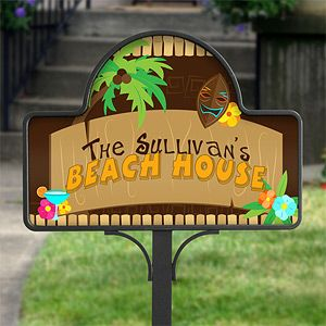 Personalized Yard Stake   Tropical Paradise