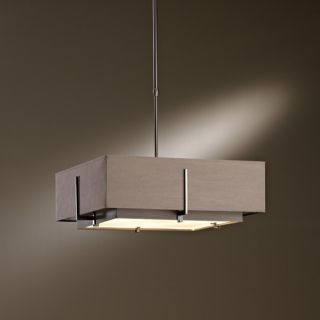Exos Square Medium Double Shade Pendant Light