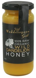 Wedderspoon Organic   100% Raw Organic Wild Dandelion Honey   11.46 oz.