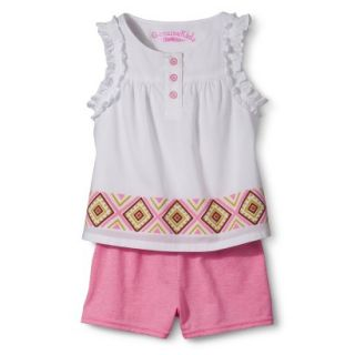 Genuine Kids from OshKosh Infant Toddler Girls Ruffle Tank & Short Set   Fresh