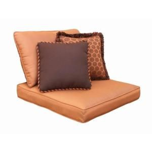 Hampton Bay Cibola Replacement Outdoor Armless Club Chair Cushion and Throw Pillow Set FW HUNCLBCH CUSH