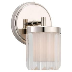 Sea Gull Lighting Nuit Noir Crystal 1 Light Polished Nickel Wall Sconce 44690 841