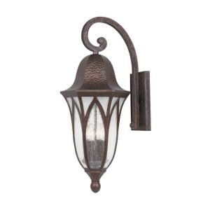 Designers Fountain Charleston Burnished Antique Copper Lantern 4 Light Outdoor Wall Mount HC0264