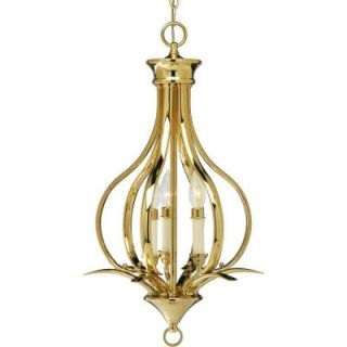 Progress Lighting Trinity Collection Polished Brass 3 light Chandelier DISCONTINUED P3807 10