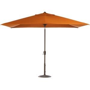 Home Decorators Collection 10 ft. Auto Tilt Patio Umbrella in Tuscan Sunbrella with Bronze Frame 1549110580