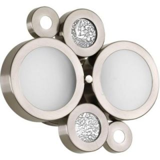 Progress Lighting Bingo Collection 2 Light Brushed Nickel Bath Light P2026 09WB