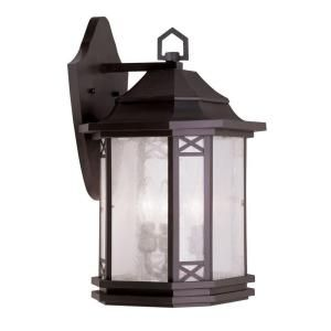 Filament Design Providence Wall Mount 3 Light Outdoor Bronze Incandescent Lantern CLI MEN2313 07