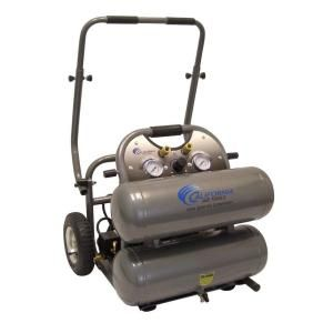 California Air Tools 4.6 Gal. 2 HP 150 psi Ultra Quiet and Oil Free Air Compressor with Cart 4620C
