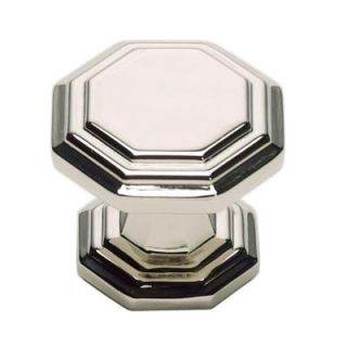 Atlas Homewares Dickinson Collection 1 1/4 in. Polished Nickel Octagon Cabinet Knob 319 PN