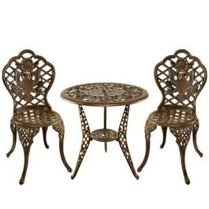 Oakland Living American Eagle 3 Piece Patio Bistro Set DISCONTINUED 3505 AB
