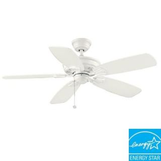 Hampton Bay Heirloom 52 in. Indoor/Outdoor White Ceiling Fan 51288