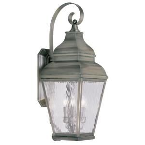 Filament Design Providence Wall Mount 3 Light Outdoor Vintage Pewter Incandescent Lantern CLI MEN2605 29