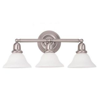 Sea Gull Lighting Sussex 3 Light Brushed Nickel Vanity Fixture 44062 962