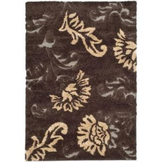 Safavieh Shag Dark Brown/Smoke 8 ft. x 10 ft. Area Rug SG463 2879 8