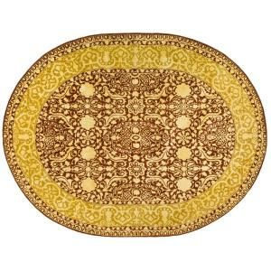 Safavieh Silk Road Maroon and Ivory 4 ft. 6 in. x 6 ft. 6 in. Oval Area Rug SKR213G 5OV