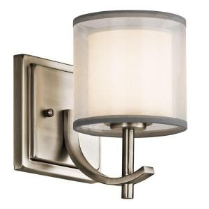 Hampton Bay 1 Light Antique Pewter Wall Sconce 89570