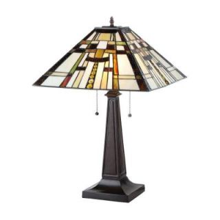 Chloe Lighting Farley 24 in. Tiffany Style Mission Bronze Table Lamp CH33290MS16 TL2