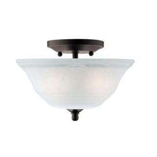 Westinghouse Wensley 2 Light Oil Rubbed Bronze Finish Ceiling Fixture 6622300