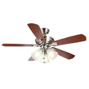 Hampton Bay Westmount 44 in. 3 Light Brushed Nickel Ceiling Fan 26617