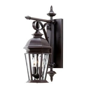 Hampton Bay Georgetown Collection Bronze 2 Light Outdoor Wall Lantern CIL1692M